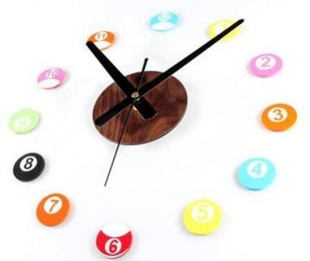 DIY POOL BALL CLOCK 1