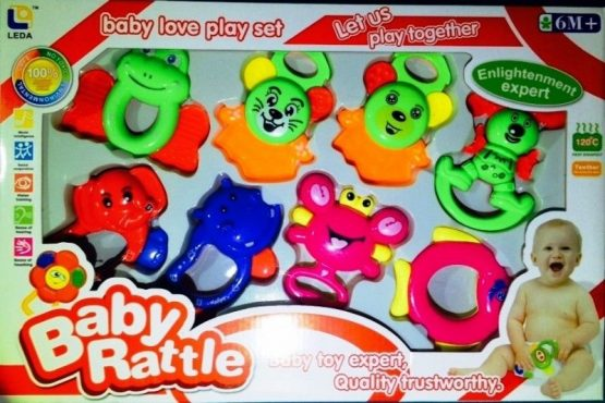 rattle set with teethers