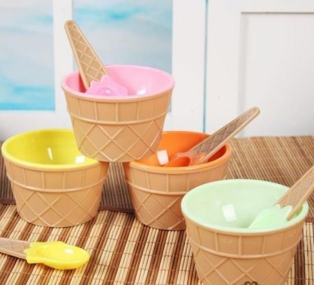 Ice cream bowl spoon belt 2
