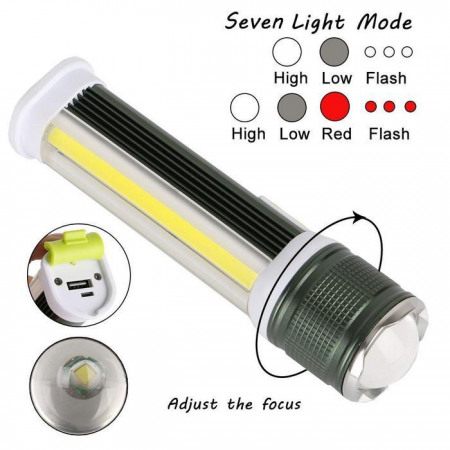 Led Lighting Glorious Cob Led Work Light Lamp Torch 4 Modes Rotating Emergency Lighting With Magnet Portable Lithium Ion Battery Waterproof Flashlight Hot Sale 50-70% OFF