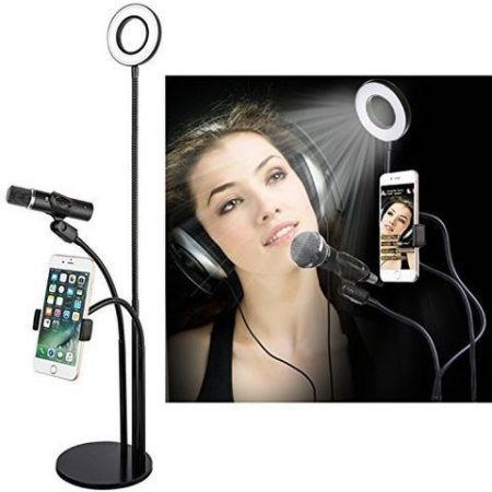 3-in-1 Live Streaming Video Selfie Stand With Dimming Light