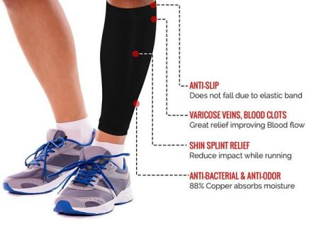 Calf Compression Sleeves - Copper Fit2