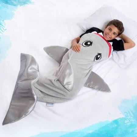 Snuggie Tails Shark Blanket (Grey)