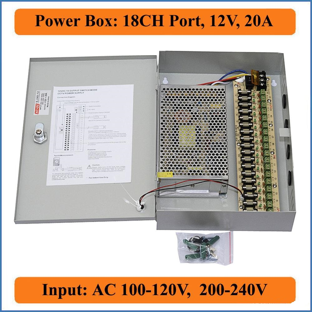 18 Channel 12v 20A Power supply box