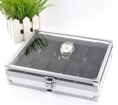 10 grid Aluminium watch case