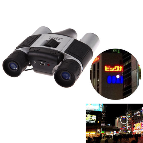 10X 25 CMOS Digital Telescope Camera Video Recording Binoculars TF Card