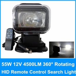 12V 55w Rotating Wireless Remote Control HID Xenon Search Work Light