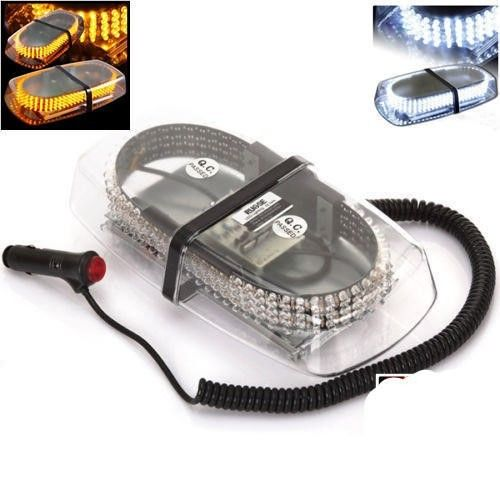 240LED 12V Car Roof Bar Emergency Strobe Light Warning Beacon Lamp Magnetic Base