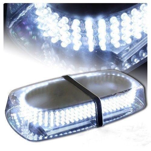 12 White Hi-Power LED Emergency Hazard Warning Flash Strobe Beacon Light Bar C93