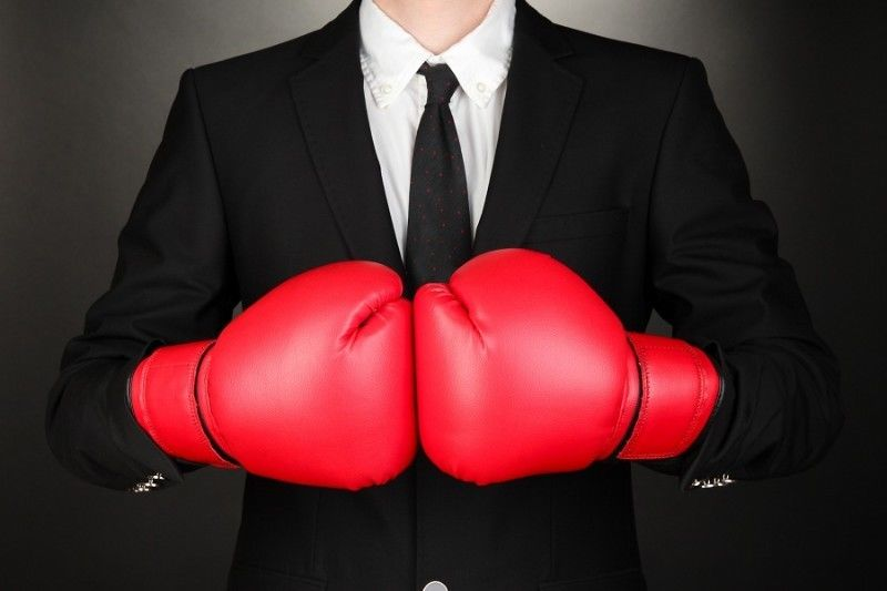 12-oz Boxing Gloves Black, Red
