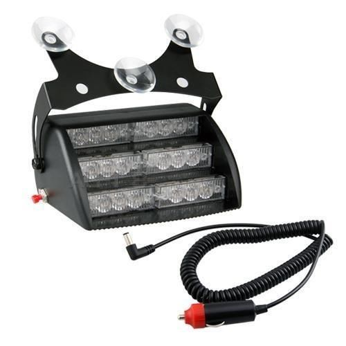 18 LED WHITE Strobe Emergency Flashing Warning Light for Car