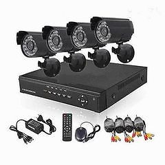 4 channel / Camera CCTV Security Recording System With Internet & 3G Phone Viewing HDMI AHD