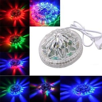 8W 48 LED RGB Stage Disco DJ Party Light Lamp Little Sun