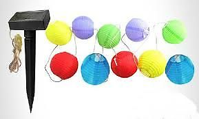 10LED Solar lantern string garden lights