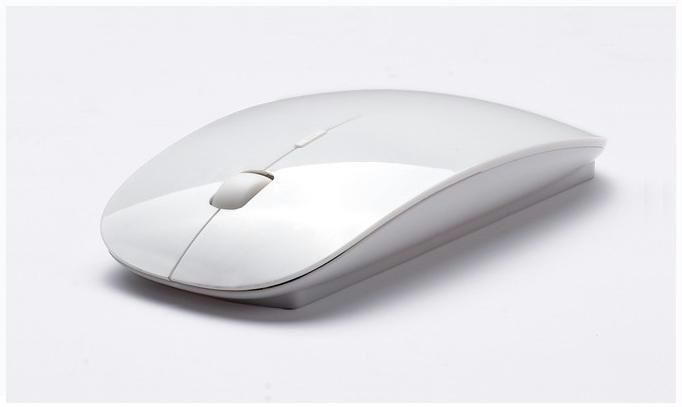 2.4ghz ultra slim wireless mouse black/white/red