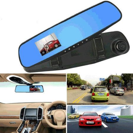 "2.8""  720P Car Kit DVR Rearview Mirrors Camera Video Recorder Dash Cam"