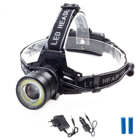 1000 Lumens LED Headlamp 4 Modes Zoomable LED Headlight Camping Head Torch CREE XM-L T6+COB