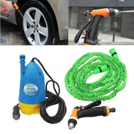 12V High Pressure Car Washer Cleaner Water Wash Submersible Pump Sprayer Gun Kit