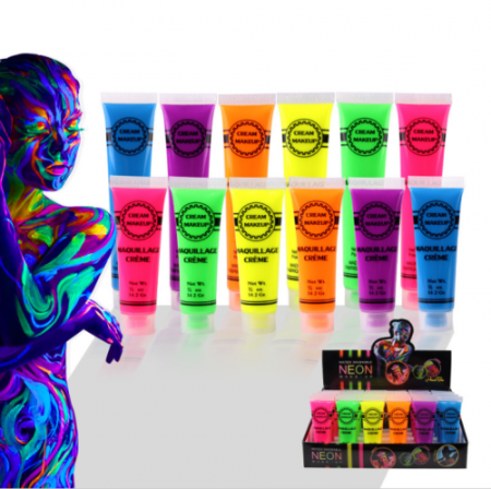 6 colours neon face paint body art paint natural water washable material - party make up