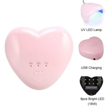 18W LED HEART UV NAIL LAMP