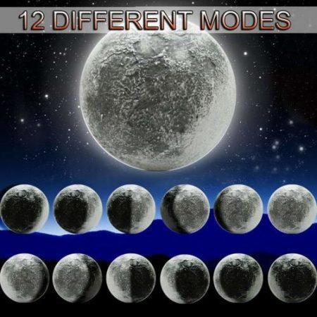 12 MODE MOON WALL LIGHT