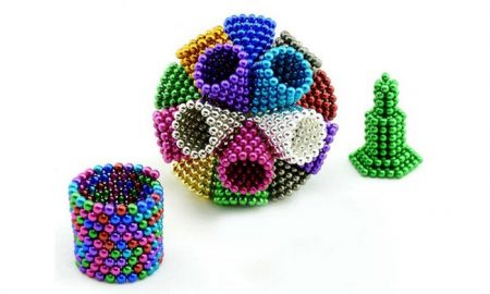 NEODIMIUM 5MM 216PCS BUCKY BALLS - MAGNETIC BALLS / CUBE -ONLY SILVER IN STOCK