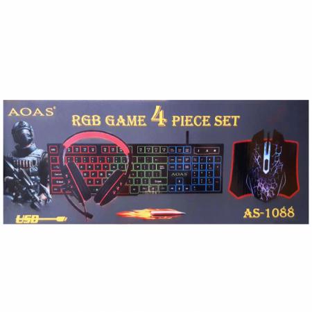AOAS-1088 4 PIECE GAMING RGB KIT